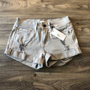 Grey Slightly Distressed Shorts